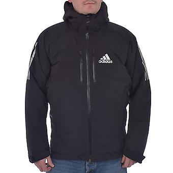 adidas Performance AdiZero Mens Padded Waterproof Hooded Winter Ski Jacket Black