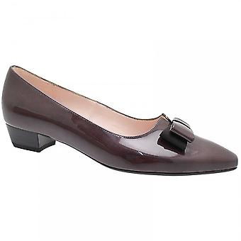 Peter Kaiser Laila Grey Patent Bow Low Heel Court
