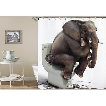 Shower Thinking Elephant Shower Curtain
