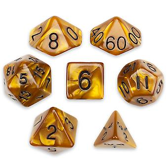 7 Die Polyhedral Set in Velvet Pouch, Mountainheart
