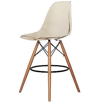 Charles Eames Styl Clear Smoke Plastikowy stołek barowy