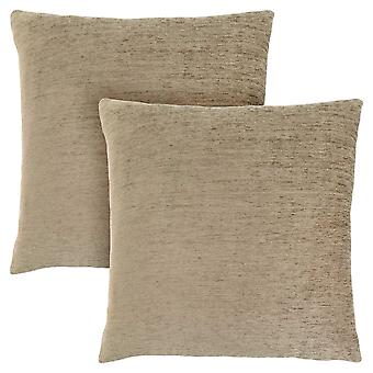 "18"" x 18"" Tan, Solid - Pillow 2pcs"