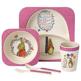 Children's Beatrix Potter Flopsy Bunny 5-Piece Organic Dinner Set