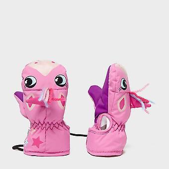 New Snowlife Kids' Animal Mitt Pink