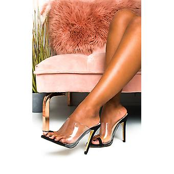 IKRUSH Womens Petra Perspex Strap High Heels