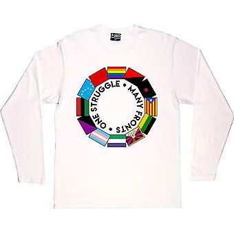 Uma luta: Muitas frentes branco de mangas compridas T-Shirt
