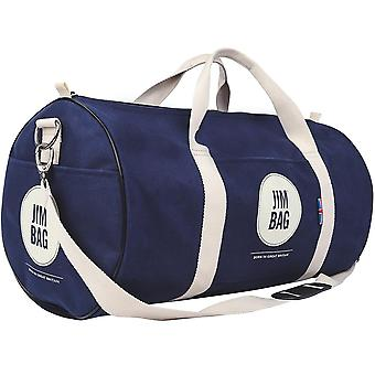JIMBAG Navy & Cream Holdall Sports Fitness Gym Overnight Weekend Travel Bag with Handle & Shoulder Strap