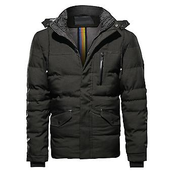 Cloudstyle Men's Padded Jacket Solid Casual Hooded Quilted jacket