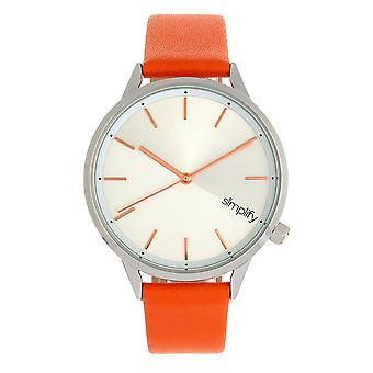 Simplify The 6700 Series Strap Watch - Orange/Silver