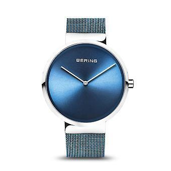 Uhr Bering 14539-308 - Brillantes Stahlzifferblatt blau Stahl Armband Milanese blau Stahl