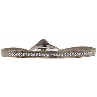 Les Udskiftelige A36394 armbånd - Armbånd Stof Marron Krystaller af høj kvalitet Kvinder