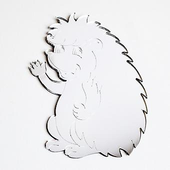 Cute Waving Hedgehog Acrylic Mirror