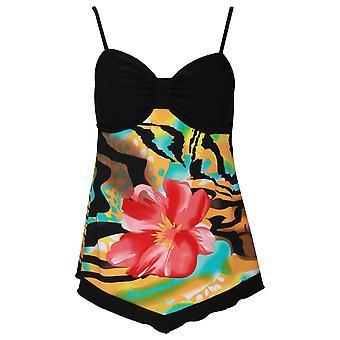 Frank Lyman Sleeveless Tropical Print Strappy Top