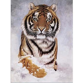 Faithful Friends Collectables Lenticular 3d Image Tiger In Snow (en)