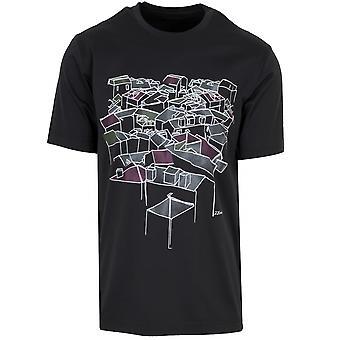 Z Zegna Z Zegna Black Roof Top Logo T-Shirt
