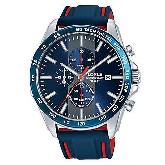 Watch Lorus RM389EX9 - watch sports Silicone Blue Man