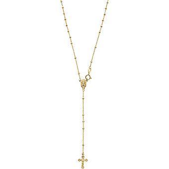 14k žlté zlato 13 palcov zlatý korálek ruženec náhrdelník-3,5 gramov