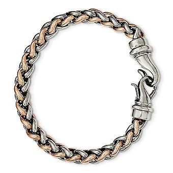Edelstahl Fancy Hummer Verschluss poliert Rose Ip vergoldet 8,25 Zoll Armband 8,5 Zoll Schmuck Geschenke für Frauen