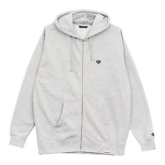 Les Micro brillant diamant Supply Co. Zip Hoodie Heather Grey