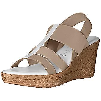 ITALIAN Shoemakers Women's 5673S7 Sandal Taupe White 9 M US