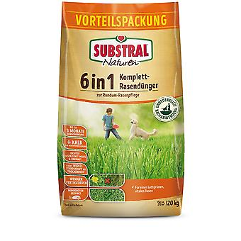 SUBSTRAL® Nature® 6in1 Complete lawn fertilizer, 20 kg for 270 m2