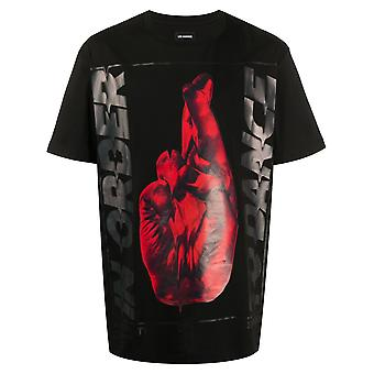 Les Hommes Lit253700p9000 Men's Black Cotton T-shirt