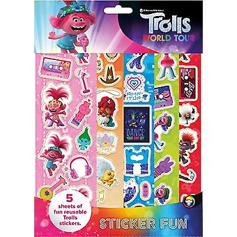 Trolls 2 Stickers Fun Set Stickers Reusable
