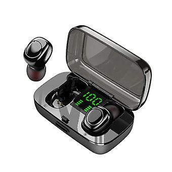 Stuff Certified® XG23 TWS Langaton Älykäs Kosketusohjaus Kuulokkeet Bluetooth 5.0 Korvassa Langattomat kuulokkeet Kuulokkeet Kuulokkeet 450mAh Musta