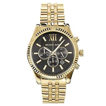 Michael Kors Mens' Lexington Watch - MK8286 - Black/Gold