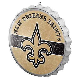 New Orleans Saints Bottle Cap Metal Wall Sign