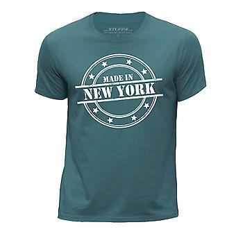 STUFF4 Boy's Round Neck T-Shirt/Made In New York/Ocean Green