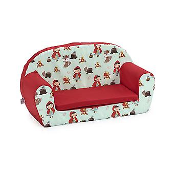 Ready Steady Bed Kids Children Mini Lounger | Kids Sofa Seat Chair | Great for Playroom kidsroom Living Room | Colourful Lightweight and Durable (Little Red)