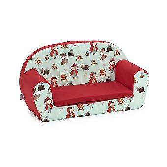 Bereit Steady Bed Kinder Mini Liege | Kinder Sofa Sitzstuhl | Ideal für Spielzimmer Kinderzimmer Wohnzimmer | Bunte leicht und langlebig (Little Red)