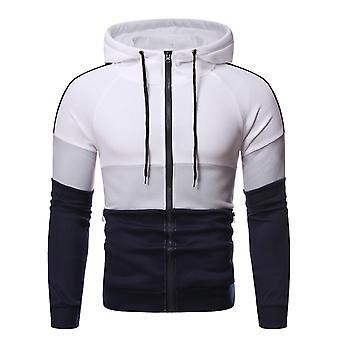 Allthemen Men's Zip-up Hooded Sweatshirt Pullover Color Blocked Hoodies