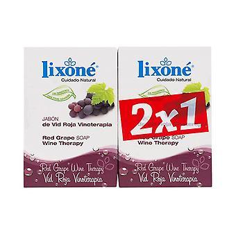 Soap Set Red Grape Wine Lixoné (2 pcs)