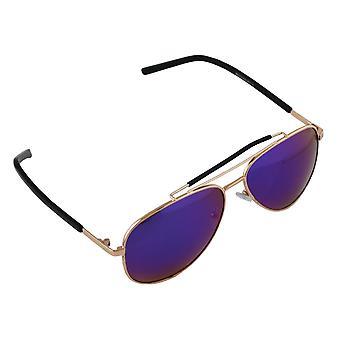Zonnebril Heren en Zonnebrillen Dames Polaroid Piloot - Goud/Paars/Blauw met gratis brillenkokerS310_5