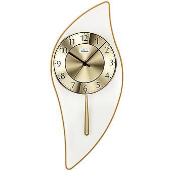 Atlanta 5009/9 Wall clock Quartz with pendulum golden pendulum clock with glass modern