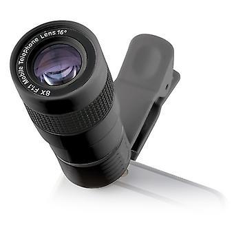 Lens voor Smartphone KSIX Clip & Zoom 8x F/1.1 Zwart
