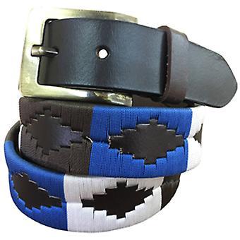 Carlos diaz unisex brun læder polo bælte cdupb127