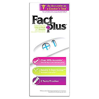 Fact plus pregnancy test, 2 ea