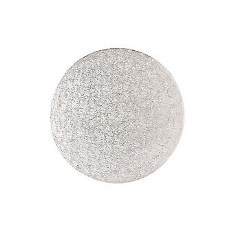 """Culpitt 7"""" (177mm) Doppia spessa rotonda Giro Bordo Carte Torta Argento Fern (3mm di spessore) Pack di 25"""