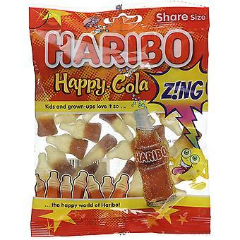 HARIBO Happy Cola Zing 1.7kg, dulces a granel, 12 paquetes de 140g