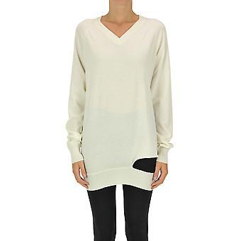 Maison Margiela Ezgl038122 Women's White Cashmere Sweater
