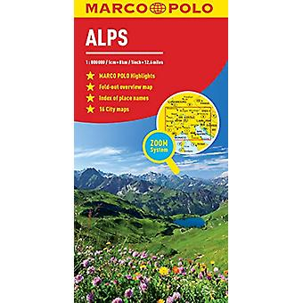 Alps Marco Polo Map by Marco Polo - 9783829755887 Book