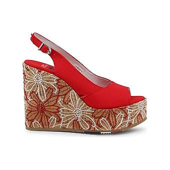U.S. Polo - Schoenen - Wedge Pumps - GOLDY4072S9-T1-RED - Dames - rood,tan - 39