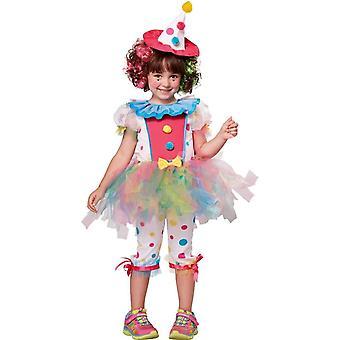 Girls söta Clown kostym