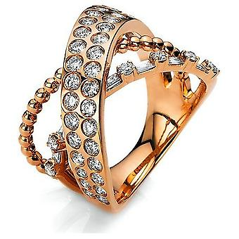 Diamond ring 750/red gold 1.4 ct.