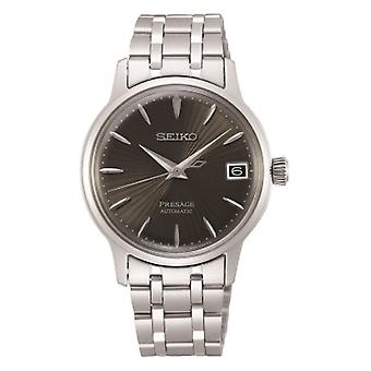 Seiko Watches Srp837j1 Presage Grey & Silver Stainless Steel Automatic Ladies Watch