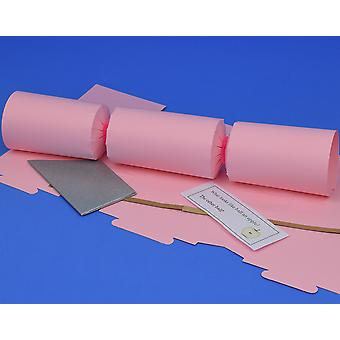 Single Flamingo Pink Make & Fill Your Own DIY Reyclable Christmas Cracker Kit