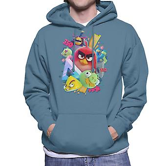 Angry Birds 3D Gang Men's Hooded Sweatshirt